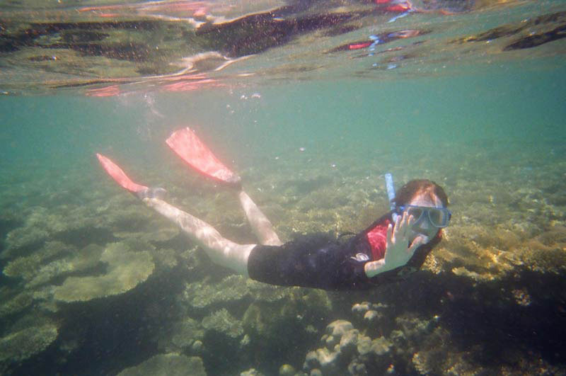 Snorkelling at Turquoise Bay
